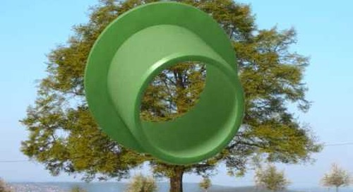 Plastic bushing is made from renewable materials