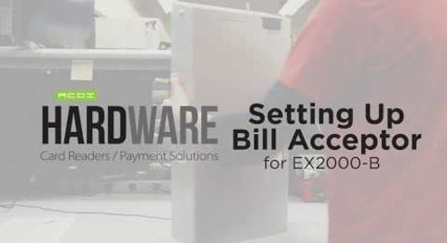 Setting Up EX2000-B Bill Acceptor   ACDI Hardware
