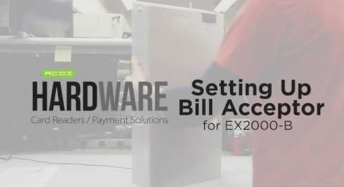 Setting Up EX2000-B Bill Acceptor