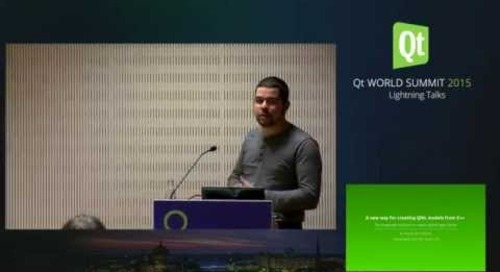 QtWS15- Lightning Talk, A new way for creating QML models from C++, Thomas Boutroue