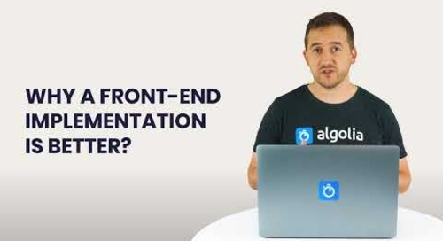 Algolia Build 101 - Search UI Implementation Introduction