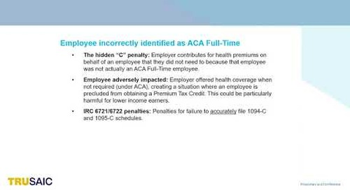 "What is the hidden ACA ""C"" penalty - Webinar - Trusaic"