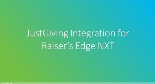 JustGiving Integration for Raiser's Edge NXT