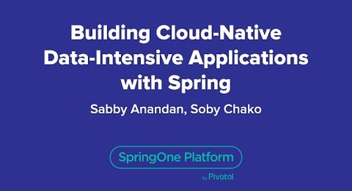 Building Cloud-Native Data-Intensive Applications with Spring