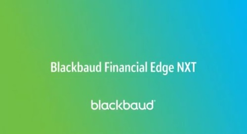 Blackbaud Financial Edge NXT In a Flash: Overview