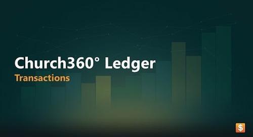 Church360° Ledger: Transactions