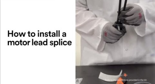 How to install a motor lead splice