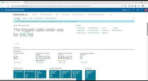 Customer Sales Tax in Dynamics 365 Business Central | Western Computer