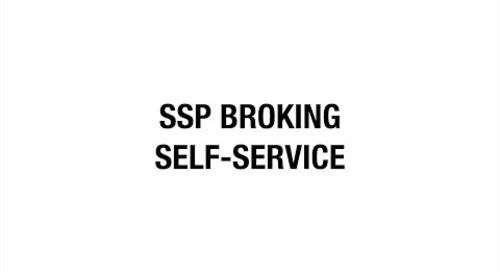 SSP Broking Self-service