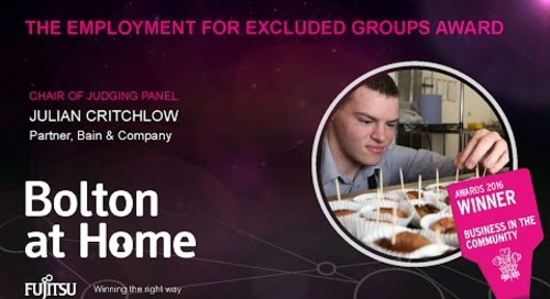 The Employment for Excluded Groups Award - Bolton at Home - Judges comments