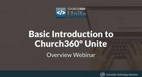 Basic Introduction to Church360° Unite