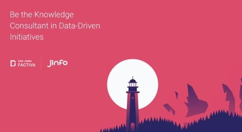 Be the Knowledge Consultant in Data-Driven Initiatives.