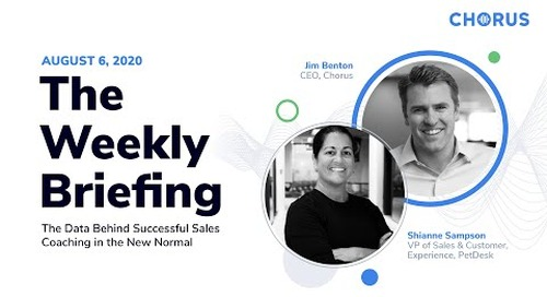 The Weekly Briefing - Data Behind Successful Sales Coaching