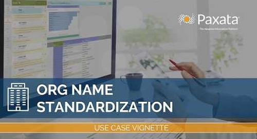Data Prep Use Case: Standardize Inconsistent Company Names With Paxata