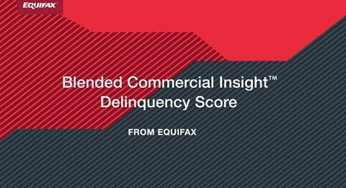 The Blended Commercial Insight Score from Equifax