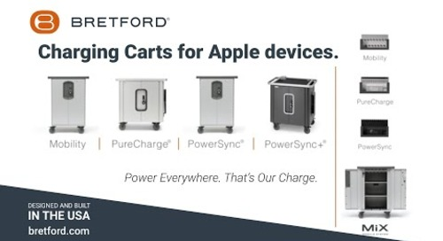 Bretford   Storage and Charging Cart solutions for Apple Devices