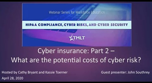 Cyber insurance, Part 2: What are the potential costs of cyber risk?