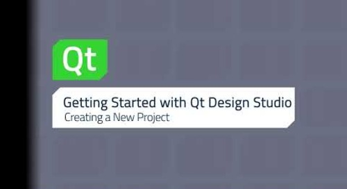 Getting Started with Qt Design Studio: Creating a New Project