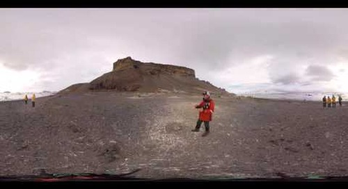 Geologist and glaciologist Colin Souness explains the creation of Brown Bluff, Antarctica