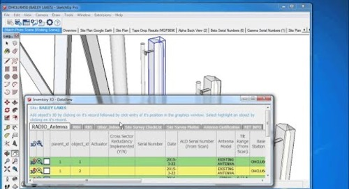 Inventory3D for Management of Telco Towers and Equipment Data