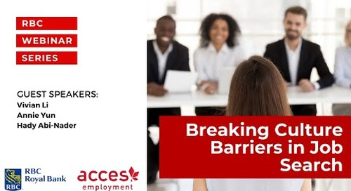 RBC Royal Bank Webinar | Break Language and Culture Barriers and Launch your Career in Canada
