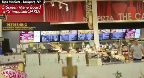 Tops Lockport Cafe Digital Menu Boards