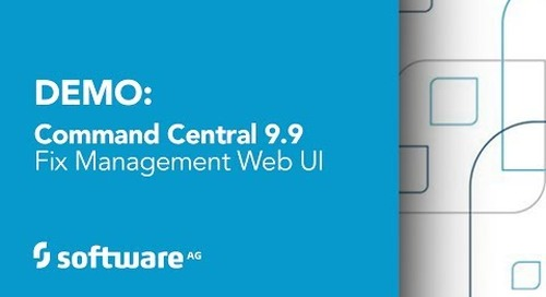 Demo: Command Central Fix Management Web UI