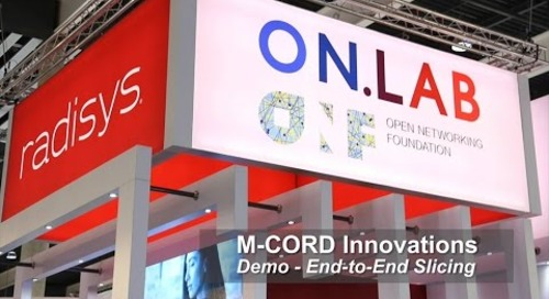M-CORD Innovations Demo: End-to-end Slicing