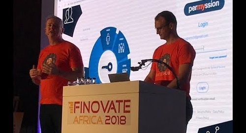 RattleHub demoing at FinovateAfrica Nov 2018