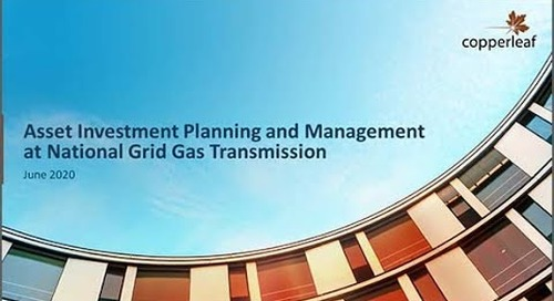 Webinar: Asset Investment Planning and Management at National Grid