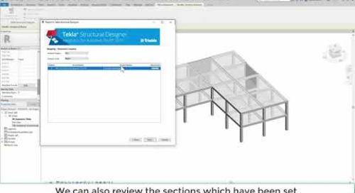 Tekla Structural Designer 2020 - Sending information to and from Autodesk Revit