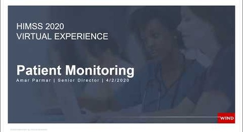 Medical Demo: Patient Monitoring