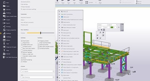 User Interface Improvements in Tekla Structures 2018i