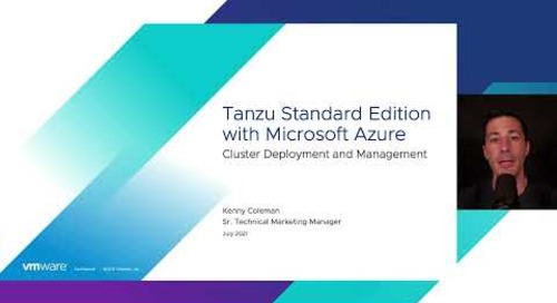 Demo: VMware Tanzu Standard Edition with Microsoft Azure