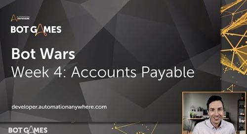 Bot Wars Challenge Page Intro: Accounts Payable