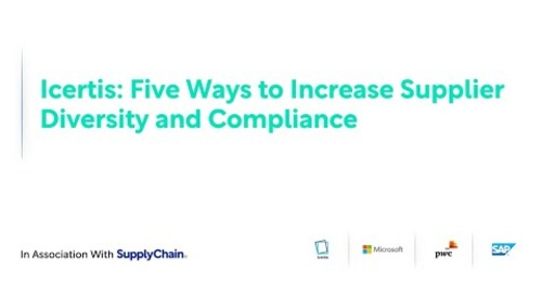 On-Demand Webinar: Five Ways to Increase Supplier Diversity and Compliance