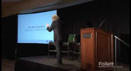 Sir Bob Geldof speaks to educators at COSN 2012 International Symposium