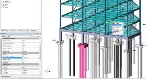 Pile Caps and Matt foundation Design in Tekla Structural Designer