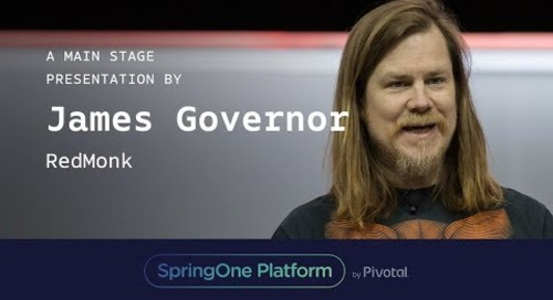 James Governor, RedMonk at SpringOne Platform 2017