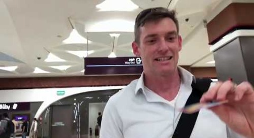 Doha Metro Red Line Underground South - David Moore's first journey