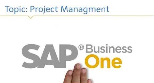 SAP Business One Project Management