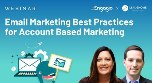 [Webinar] Email Marketing Best Practices for  Account Based Marketing | Replay