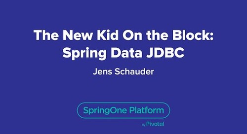 The New Kid on the Block: Spring Data JDBC