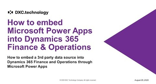 How to embed Microsoft Power Apps into Dynamics 365