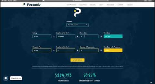 Accounting Outsourcing | Savings Calculator - LIVE VIDEO DEMO