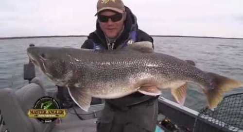 Monster Lake Trout Fishing in Manitoba - Manitoba Master Angler Minute