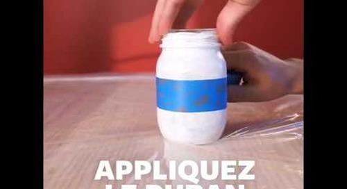 Confectionnez ce distributeur à savon festif avec du ruban ScotchBlueMC!