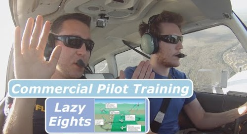 Commercial Pilot Training| Introduction to Lazy Eights| PA28| ATC Audio