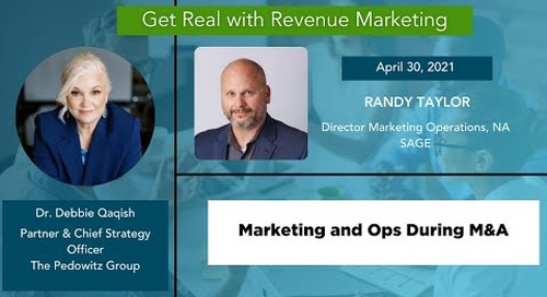 The Reality of Marketing Operations during M&A with Randy Taylor