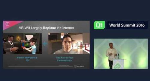QtWS16 Inspiration Spotlight VR Philip Rosedale, hifidelity, Keynotes